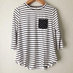 Anthro Lili's Closet Striped Tunic Top
